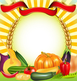 Harvest vegetables frame vector