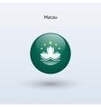 Macau round flag vector