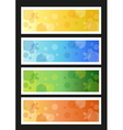 Seasonal banners vector