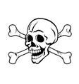 Skull with crossed bones vector