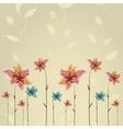 Spring or summer flower greeting card vector