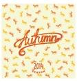 Calligraphy design lettering autumn vector