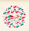 Christmas ornament with icon retro vector