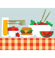 Picnic food vector
