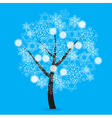 Snowflakes tree vector