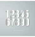 Set of paper numerals vector