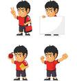 Soccer boy customizable mascot 13 vector