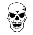 Black skull in cartoon style vector