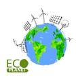 Eco concept planet vector
