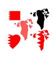 Map of bahrain vector