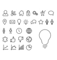 Modern thin line icon set vector