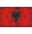 Flag of albania - mosaic vector