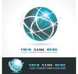 Sphere 3d design vector