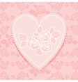 Lace pink in heart shape vector
