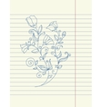 Hand drawing sketch flower vector