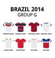 World cup brazil 2014 - group f teams jerseys vector