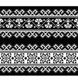 Ukrainian slavic seamless folk embroidery pattern vector