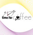 Time for coffee sign with clock vector