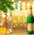 Christmas new years party vector