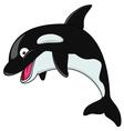 Black orca cartoon vector