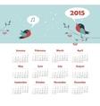 Calendar 2015 year with singing birds vector