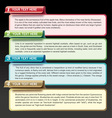 Set of infographic template vector