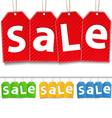 Hanging sale tags vector