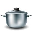Cooking metal pan vector