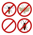No insects cockroach moth and wasp vector
