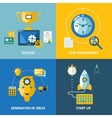 Generation of ideas start up time management vector