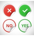 Yes and no stickers vector