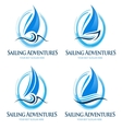 Sailing boat logo vector