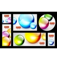Colorful 3d sphere banners vector