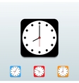 Clock icon set on blue background eps10 vector