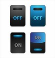 On off switch button vector