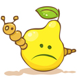 Funny worm in the pear vector