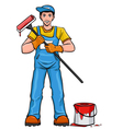Worker painter in his equipment vector