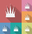 Icon of crown flat style vector