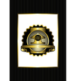 The original badge with gold details vector