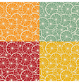 Citrus pattern collection vector