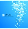 Bubbles underwater background vector