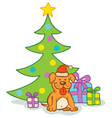 Dog gifts tree vector