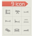 Bed icon set vector