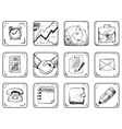 Business icons set vector