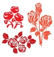 Red roses sign two vector