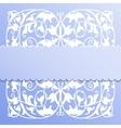 Paper frame on blue background vector