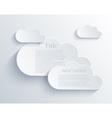 Cloud design element vector