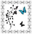 Vintage butterflies vector