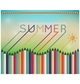 Summer time coloring pencils vector