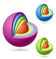 Cutaway sphere vector